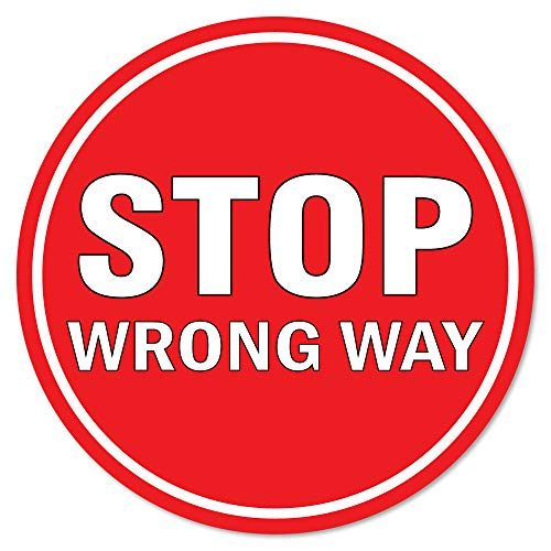 Coronavirus Stop Wrong Way Non-Slip Floor Graphic 12 Pack of 7' Vinyl Decal Protect Your Business, Work Place & Customers Made in The USA