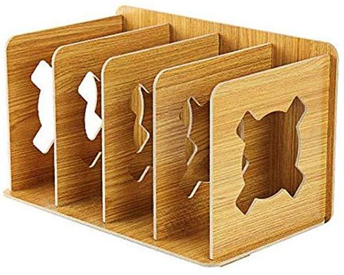 WZJN Zeitschriftensammler aus stabilem Holz braun