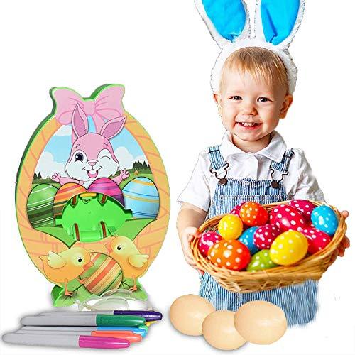 HHKX100822 DecoracióN De Huevos De Pascua, MáQuina para Decorar Huevos con Spinner, Incluye Rotuladores, Regalos De Bricolaje para Pascua Y DíA del NiñO A