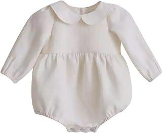 Maison Castellar Süßer Strampler für Mädchen oder Jungen, mit Stehkragen oder Pierrot – niedlich – elegant – Jumpsuit – Strampler – französische Marke