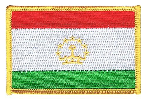 Flaggenfritze Flaggen Aufnäher Tadschikistan Fahne Patch + gratis Aufkleber