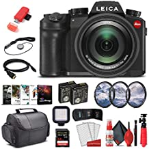 Leica V - Lux 5 Digital Camera (19121) + 64GB Extreme Pro Card + Corel Photo Software + Extra Battery + LED Video Light + Card Reader + 3 Piece Filter Kit + Case + and More - Deluxe Bundle