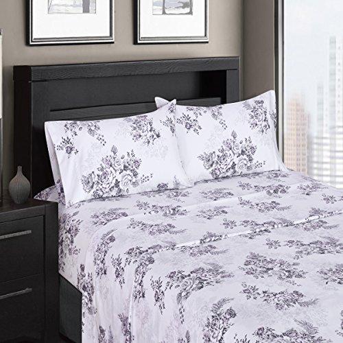 Royal Hotel Bally Bettlaken-Set, 100% Baumwolle, hochwertiges Satingewebe, seidig weich, Tiefe Taschen, moderner Reaktivdruck, Fadenzahl 300 Top-Split-King