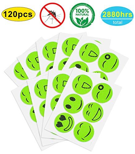 YHmall 120/240pcs Cerotti Anti Zanzara e Repellente per Zanzare e Insetti per Adulti e Bambini