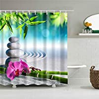 ZHAOXIN 自然の風景シャワーカーテン海山の木風景バスルームカーテンの装飾防水カーテンバスシャワーカーテン
