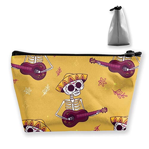Multi-Functional Print Trapezoidal Storage Bag for Female Skull Music