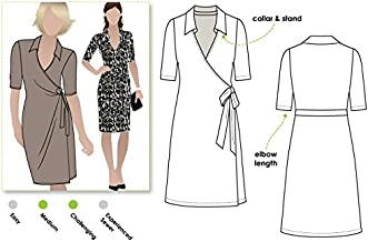 Style Arc Sewing Pattern - Lea Knit Wrap Dress (Sizes 04-16) - Click for Other Sizes Available