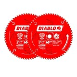 Freud D0760X Diablo Ultra Finish Saw Blade ATB 7-1/4-Inch by 60t 5/8-Inch Arbor, 2-Pack