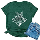 Noffish Schrute Farms - Camiseta para mujer, 2 - verde, XX-Large