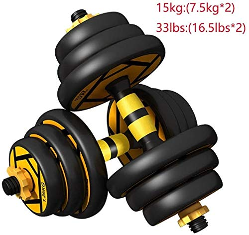 Suge Mancuernas Pesos Ajustables Barra aparatos de Ejercicios Gimnasio Planta Soporte Inicio Equipo for Deportes (Size : 15kg(7.5kg*2))