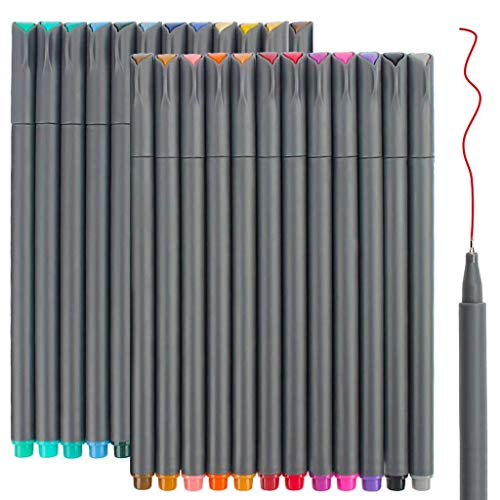0.4 mm Micro-Pen Fineliner Pen Set Ink Pens Super Fine Point Liner Pen,Multi-Liner 36 Colors Anime,Artist Illustrating Drawing,Technical Drawing,Office Documents Sketching