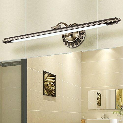SJUN American Vintage Spiegel Leuchten Led Europäischen Spiegel Lampe Vintage Spiegel Schrank Leichte Feuchtigkeit Toilette Rost Kommode Lampen,(A) 70Cm Weiß