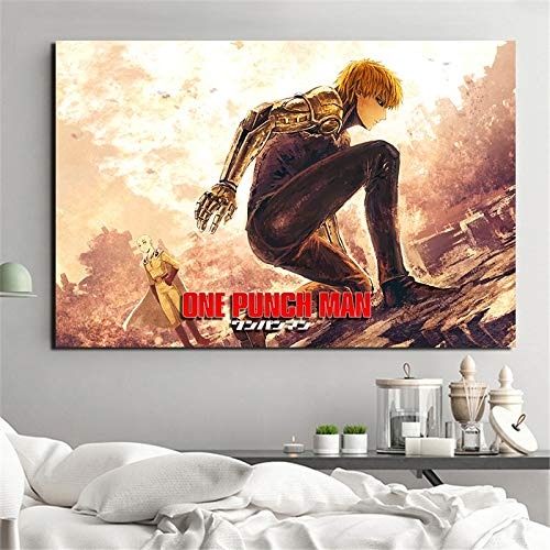 KWzEQ Anime Hombre Lienzo Arte Sala de Estar decoración del hogar Moderno Arte de la Pared,Pintura sin Marco,60x90cm