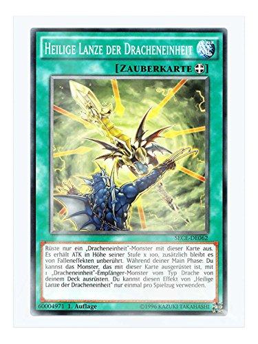 SECE-DE062 Heilige Lanze der Dracheneinheit 1. Auflage im Set mit original Gwindi Kartenschutzhülle