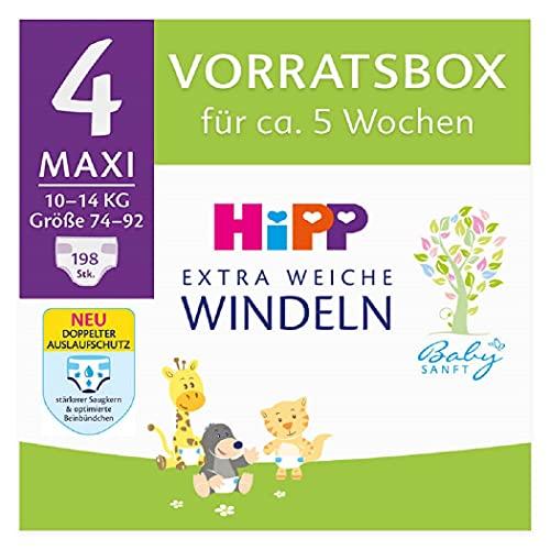 Hipp Babysanft Windeln Maxi 4 Vorratsbox