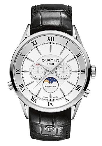 Roamer Herren-Armbanduhr Superior Moonphase Chronograph Quarz 508821 41 13 05