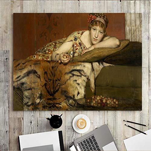 wZUN Decoración para el hogar Impresión de Lienzo Arte de la Pared Pintura Tribunal de Justicia Europeo Personas Escena Pintura Retratos de Mujeres 50x70 Sin Marco