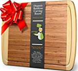 GREENER CHEF Extra Large Bamboo Cutting Board - Lifetime Replacement - 18 x 12.5 Inch BUTCHER BLOCK STRENGTH Bamboo Wood Chopping Cutting Boards for Vegetables, Meat, Charcuterie Kitchen Serving Tray