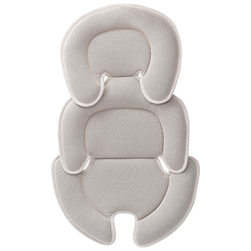 Innokids Head and Body Support Pillow Infant Car Seat Insert for Newborn to Toddler Stroller Cushion for Baby Shower Gifts (Gray)