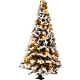 NOCH 22120 Árbol de Navidad Iluminado nevado con 20 ledes, 8 cm de Alto, Color
