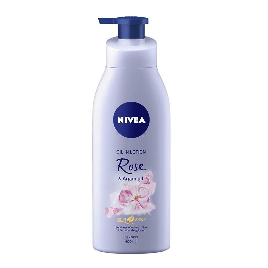 誓う磨かれたアンビエントNIVEA Oil in Lotion, Rose and Argan Oil, 400ml