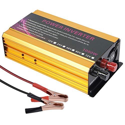 UNBQ UNBQModifizierter Sinus Wechselrichter Spannungswandler 1000W DC 12V/24V auf 220V Inverter Blue Gray Gold Dauerleistung von 600WGoldUNBQ