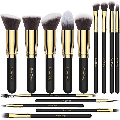 EmaxDesign Juego de brochas de maquillaje14 piezas maquillaje profesional cepillo Fundación mezcla...