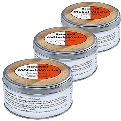 Renuwell 3 x 500 ml Möbel-Wachs Spar-Set