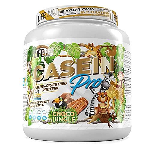 Life Pro Casein Pro Choco Jungle 900g Edición Limitada | Proteína de caseína perfecta para el desarrollo de músculos | Caseína en polvo de Fabricación Nacional