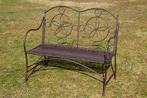 Böhner Exklusive Gartenbank Cielo, ergonomische Sitzfläche, Sitzbank Stabiler Metallausführung
