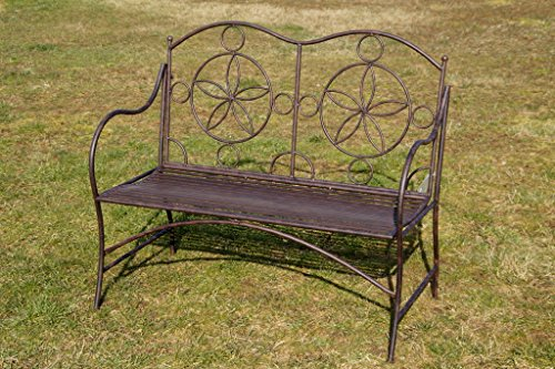 Exklusive Gartenbank Cielo, ergonomische Sitzfläche, Sitzbank in neuem Design und sehr stabiler Metallausführung