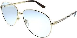 غوتشي نظارات شمسية للرجال، ازرق