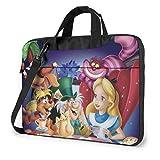 15.6 Inch Laptop Bag Cute Alice in Wonderland Laptop Briefcase Shoulder Messenger Bag Case Sleeve