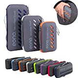 Eono by Amazon - Microfiber Towel Perfect Sports, Travel, Beach Towel. Fast Drying, Super Absorbent, Ultra Compact. Suitable for Camping, Gym, Beach, Swimming, Backpacking, Purple, 60x30cm