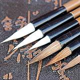 EDCV Brush Artist Drawing Pinceles de Pintura de Acuarela School Supplie 6PCS / Set Wolf Wolf Calligraphy Brush Chinese Writing Brush Paint
