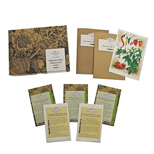Varietà di peperoncino Habanero - set regalo di semi con 5 entusiasmanti varietà del tipo Capsicum Chinense