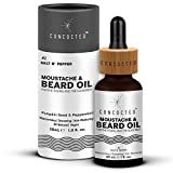CONCOCTED Salt N' Pepper Moustache & Beard Growth Oil with Pumpkin Seed & Peppermint Oil   For Fast Growth & Patchy Beard   Lasting Fragrance   Itch-reducing 30 mL (1.0 fl. oz.)