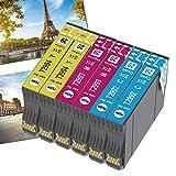 OGOUGUAN 6 cartuchos de tinta de repuesto para Epson 29XL compatibles con Epson Expression Home XP-235 XP-245 XP-247 XP-255 XP-332 XP-335 XP-345 XP-352 XP-355 XP-432 XP-442 XP-445 XP-452