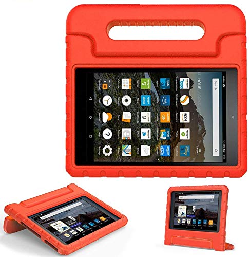 2019 Fire 7 inch case- Kids Shock Proof Convertible Handle Light Weight Super Protective Stand Cover for Amazon Fire Tablet (7' Display -Universal 2015 Fire 7 inch ) Red