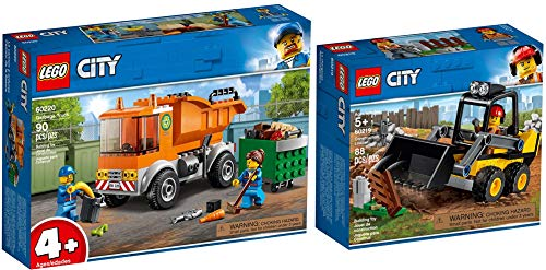 LEGO® City 2er Set 60219 60220 Frontlader + Müllabfuhr