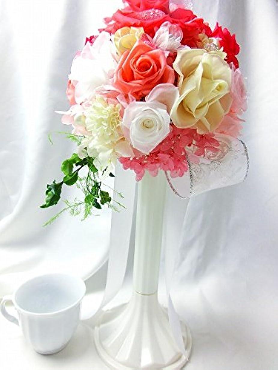 累積仕事才能プリザーブドフラワー プレミアム ブーケ ブートニアセット /ピンク [ケース付き]