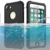ChuWill Funda Impermeable iPhone 7, Carcasa iPhone 8, Certificado IP68 Antigolpes Sumergible Protección 360º Funda para iPhone 7/8 (4.7 Inch) - Negro