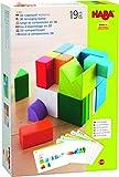 HABA 305463 - 3D-Legespiel Würfelmix, Holzspielzeug zum Legen und Stapeln, 19 Holzbausteine, 10...