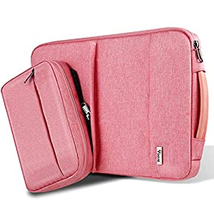 Voova 15.6 14 15 13 13.5 Inch Laptop Sleeve Bag Water Resistant Laptop Case Protective Tablet Cover with Detachable Accessory Case Compatible MacBook Pro Air