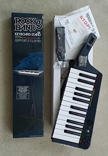 Rock Band 3 Wireless Keyboard for Xbox 360 and Keyboard Stand for Xbox 360 Playstation 3 and product image