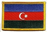 Flaggenfritze Flaggen Aufnäher Aserbaidschan Fahne Patch + gratis Aufkleber