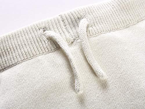 Bio Baby Strickhose 100% Bio-Baumwolle (kbA) GOTS zertifiziert, Hellblau Melange, 62/68