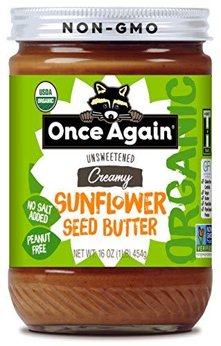 Once Again Organic Sunflower Butter - Peanut Free, Salt Free, Unsweetened - 16 oz Jar