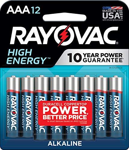 Rayovac AAA Batteries, Alkaline Triple A Batteries (12 Battery Count)