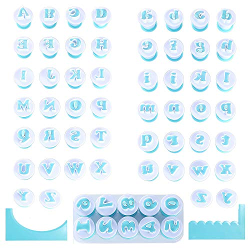 Nuoda Fondant Alphabet/Letter Cutters and Number set,Cake Biscuit Mold,Cake Decorating Tools, Cookie Stamp Impress,Embosser Cutter,DIY Sugar Cookies Chocolate Plunger(3 Set of Number and Letters)